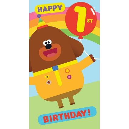 Hey Duggee Age 1 Birthday Card