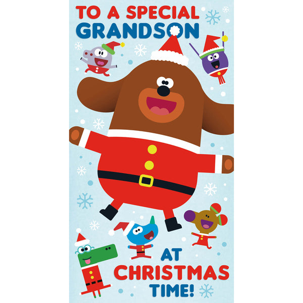 Hey Duggee Grandson Christmas Card Front
