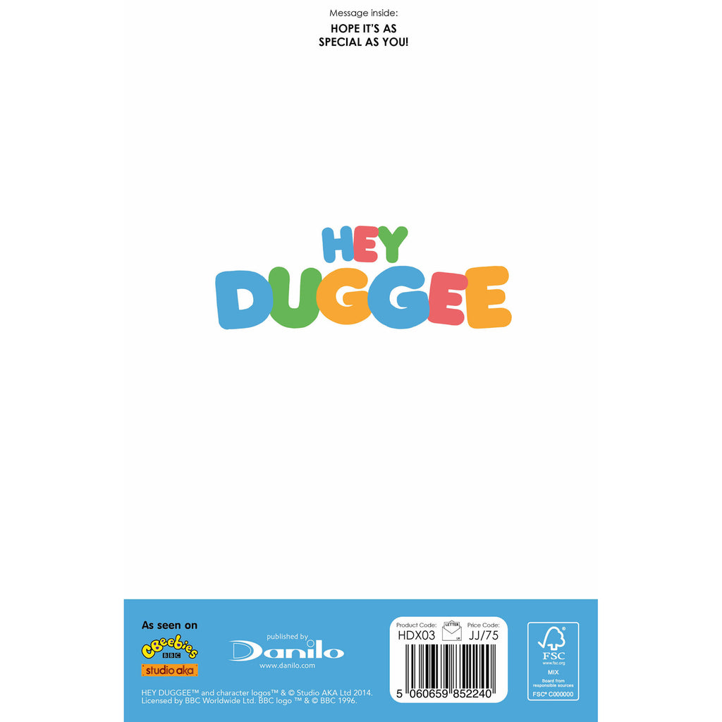 Hey Duggee Son Christmas Card Back