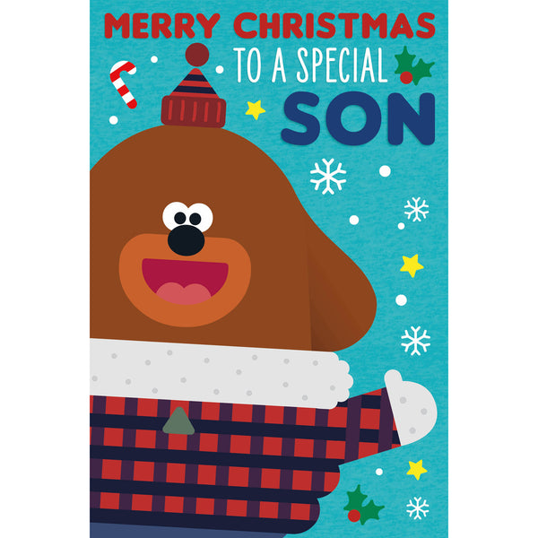 Hey Duggee Son Christmas Card Front