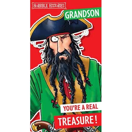 Horrible Histories Grandson Birthday Card