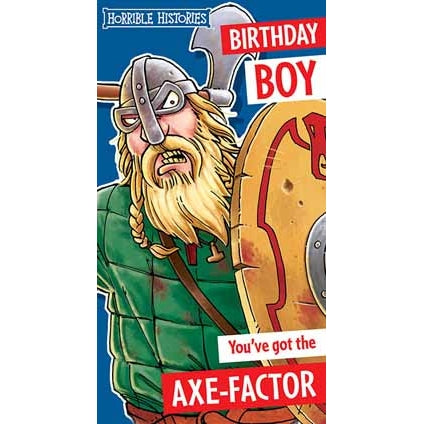 Horrible Histories Birthday Boy Card