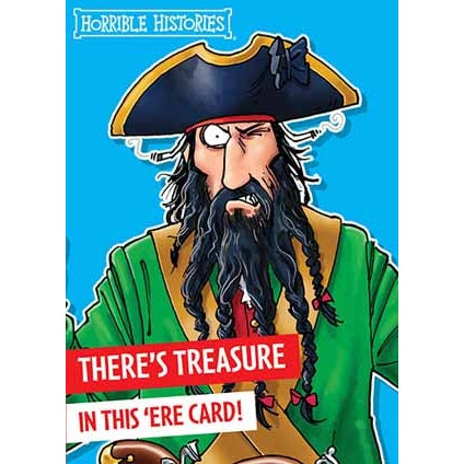 Horrible Histories Pirate Birthday Card