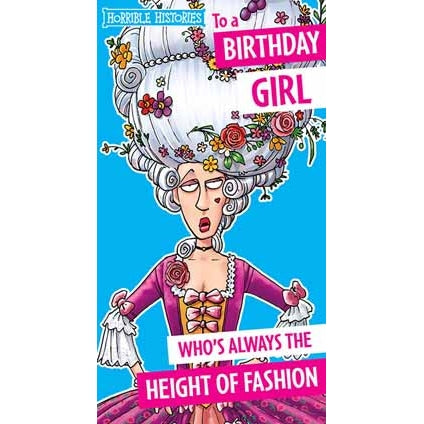 Horrible Histories Birthday Girl Card