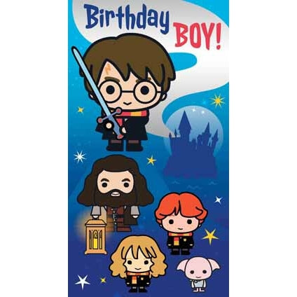 Harry Potter Birthday Boy Card
