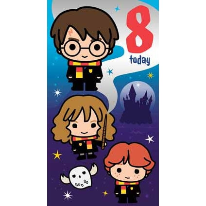 Harry Potter Age 8 Birthday Card