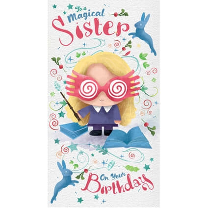 Harry Potter Sister Birthday Card