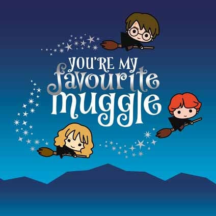 Harry Potter Favourite Muggle Birthday Card