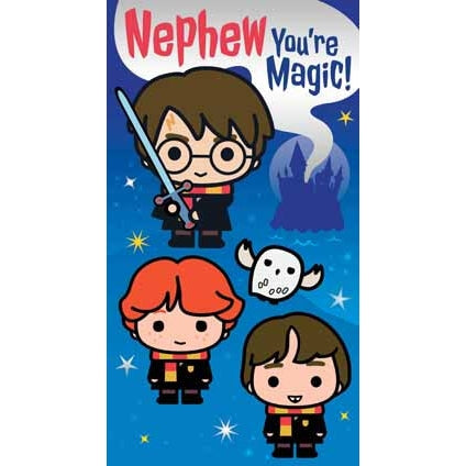Harry Potter Nephew Birthday Card