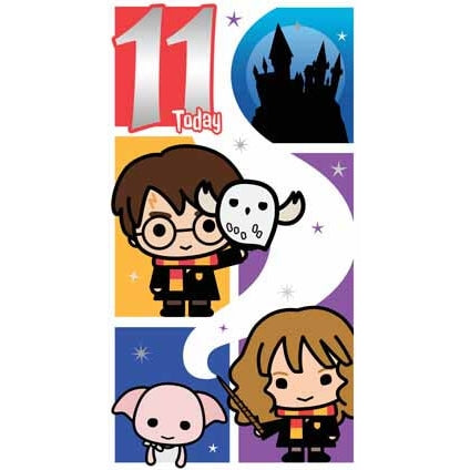 Harry Potter Age 11 Birthday Card
