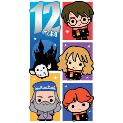 Harry Potter Age 12 Birthday Card