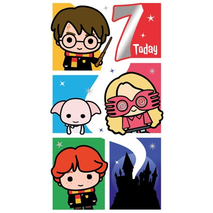 Harry Potter Age 7 Birthday Card