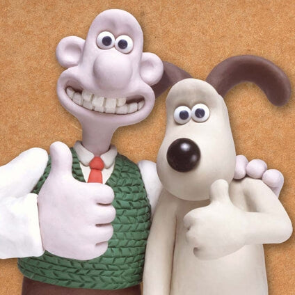 Wallace & Gromit Thumbs Up Blank Card