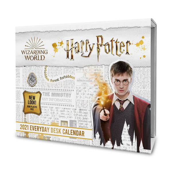 Harry Potter 2021 Desk Block Calendar Front