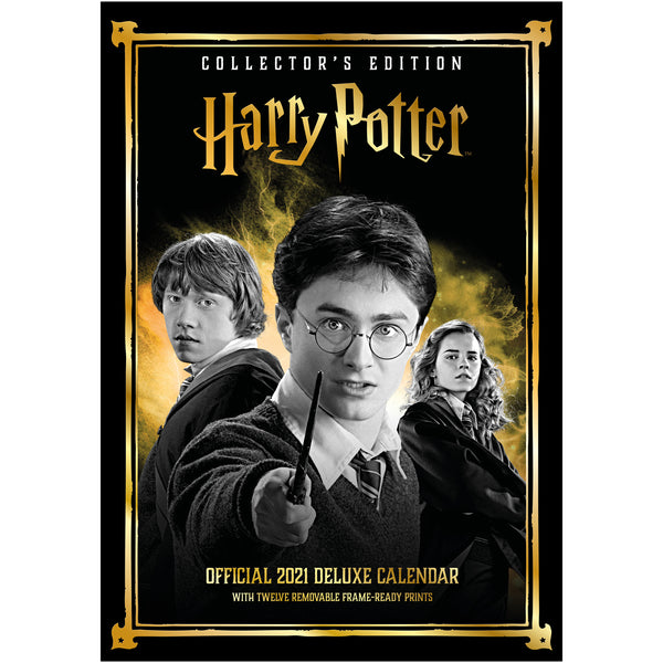 Harry Potter 2021 Deluxe Special Edition A3 Wall Calendar Front