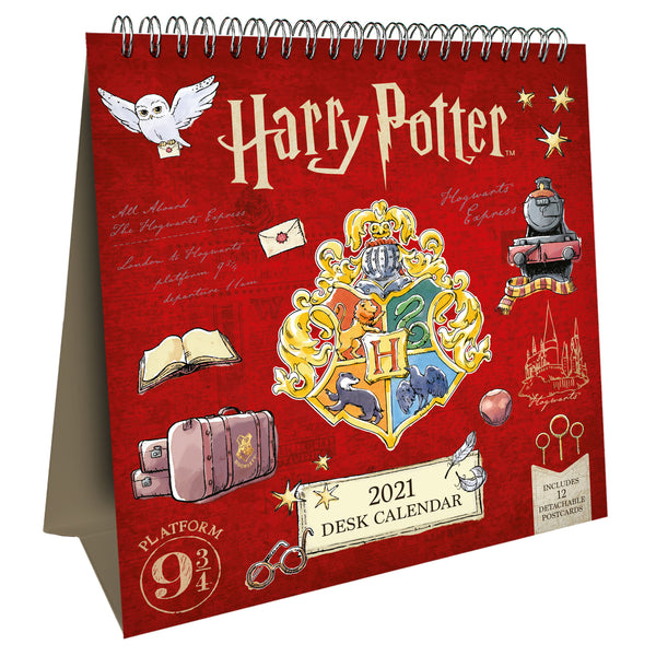 Harry Potter Postcard 2021 Desk Easel Calendar Front
