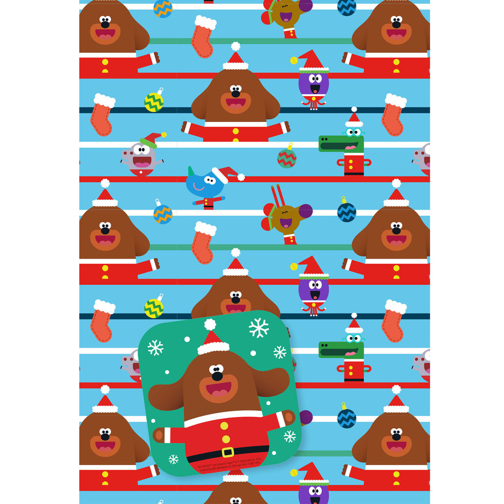Hey Duggee Christmas Gift Wrap and Gift Tag Set