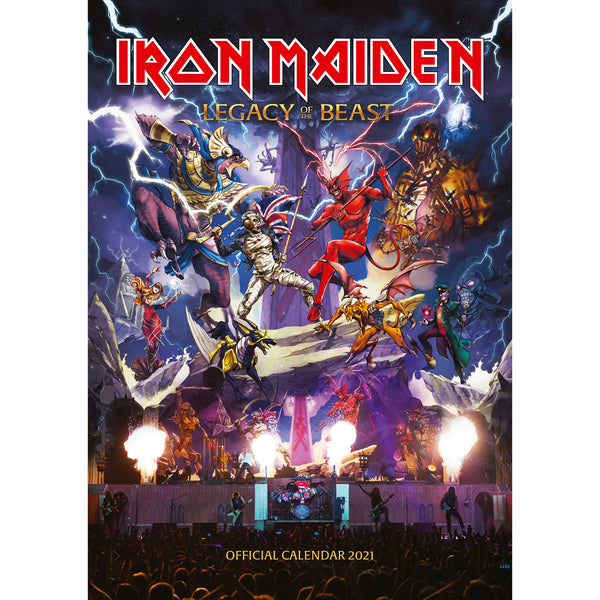 Iron Maiden Official 2021 A3 Wall Calendar FRONT