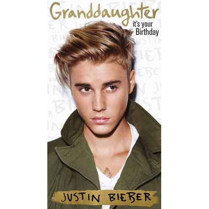 Justin Bieber Granddaughter Birthday Card