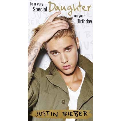 Justin Bieber Daughter Fold Out Birthday Card