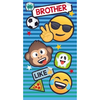 JoyPixels Emoji Brother Birthday Card