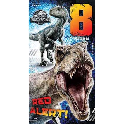 Jurassic World Age 8 Birthday Card