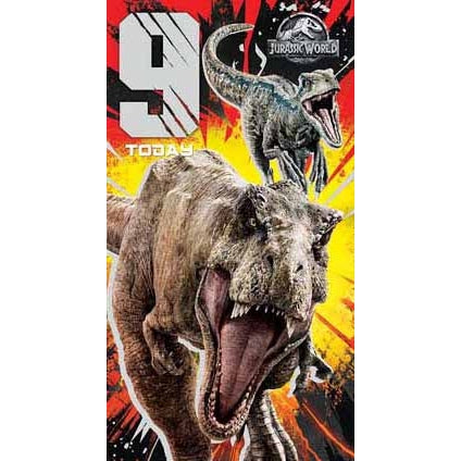 Jurassic World Age 9 Birthday Card