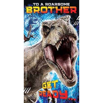 Jurassic World Brother Birthday Card