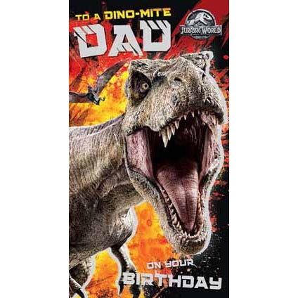Jurassic World Dad Birthday Card