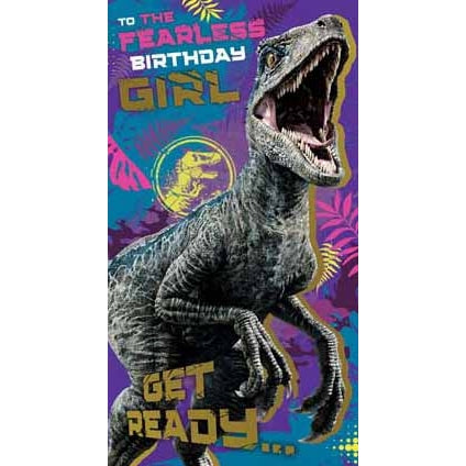 Jurassic World Birthday Girl Greeting Card