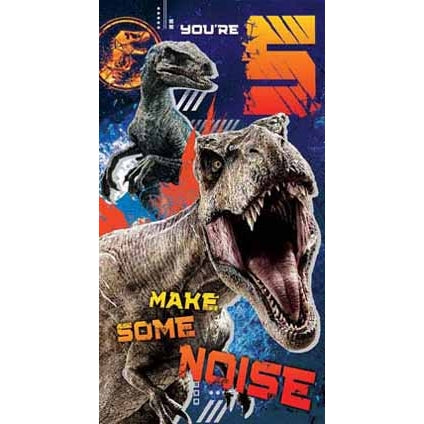 Jurassic World Age 5 Birthday Card with Sticker Sheet