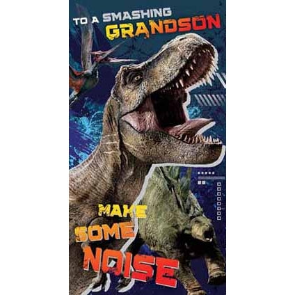 Jurassic World Grandson Birthday Card