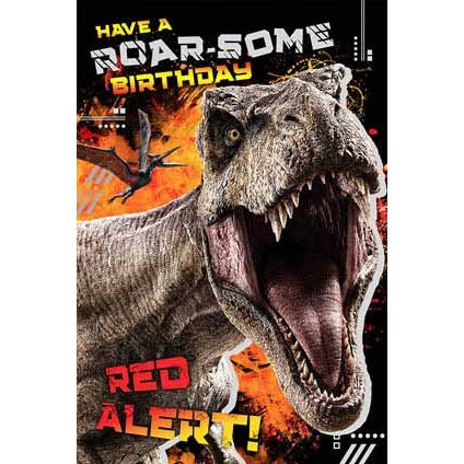Jurassic World Pop-up Birthday Card