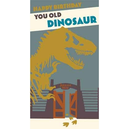 Jurassic World Retro Birthday Card