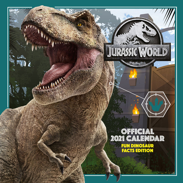 Jurassic World Official 2021 Square Wall Calendar Front