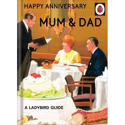 Ladybird Books For Grown-Ups   Anniversary Mum & Dad Card