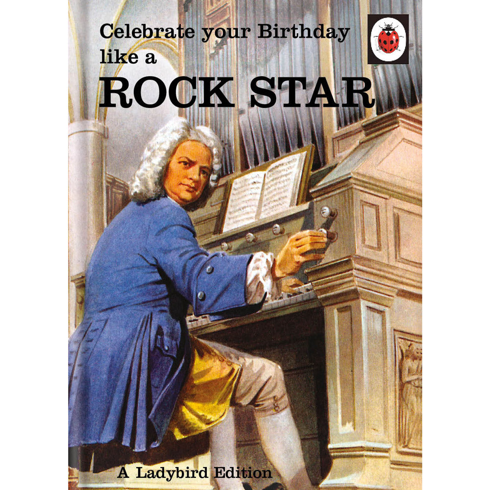 Ladybird Books For Grown-Ups Rock Star Birthday Card