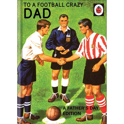 Ladybird Books For Grown-Ups Football Fathers Day Card