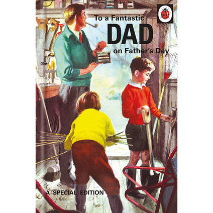 Ladybird Books For Grown-Ups  Fathers Day Fantastic Dad Card