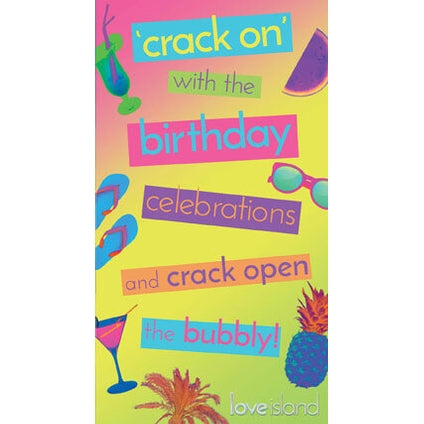 Love Island Crack On' Birthday Card