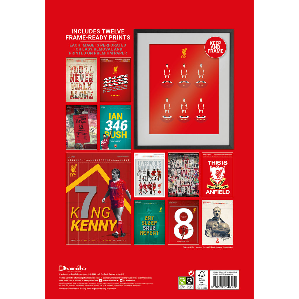 Official Liverpool 2021 Calendar - A3 Deluxe BACK