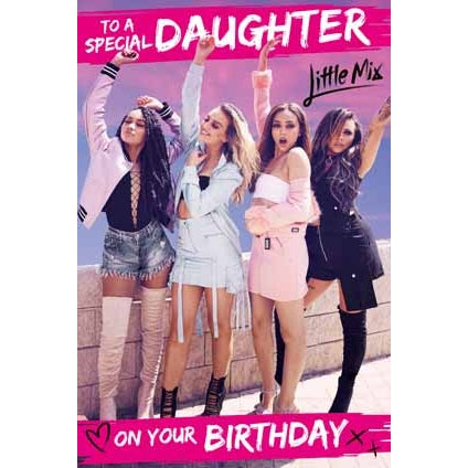 Little Mix Daughter Birthday Card
