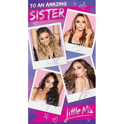 Little Mix Sister Birthday Card