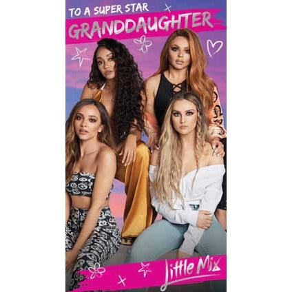 Little Mix Granddaughter Birthday Card