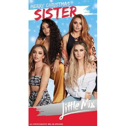Little Mix Sister Christmas Card