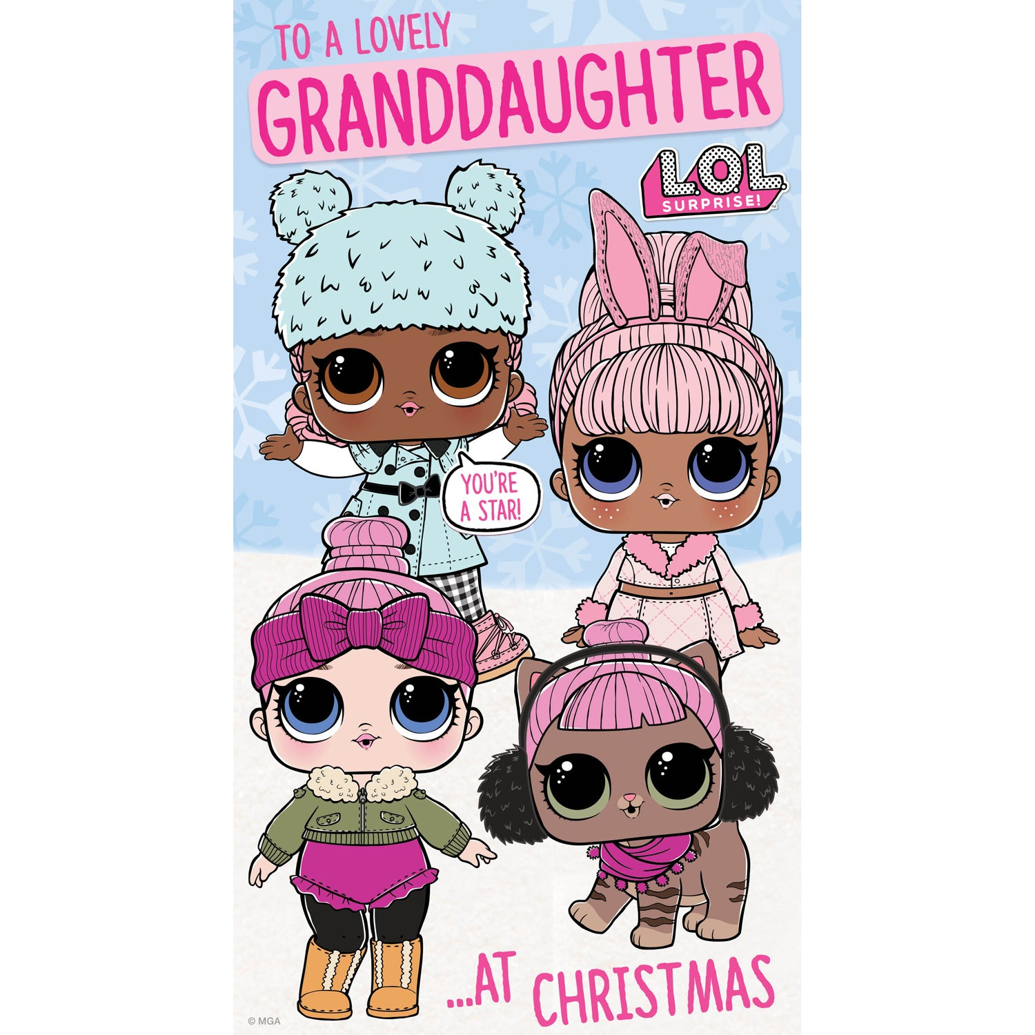 LOL Surprise Granddaughter Christmas Card