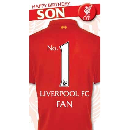 Liverpool Happy Birthday Son Card
