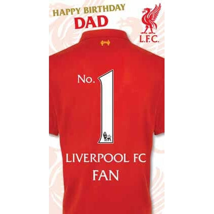 Liverpool Happy Birthday Dad Card