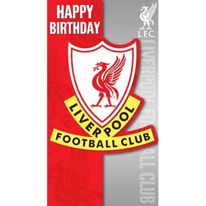 Liverpool Happy Birthday Crest Card