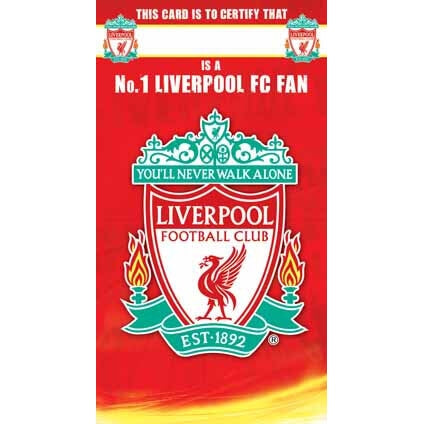 Liverpool Certificate Happy Birthday Greeting Card